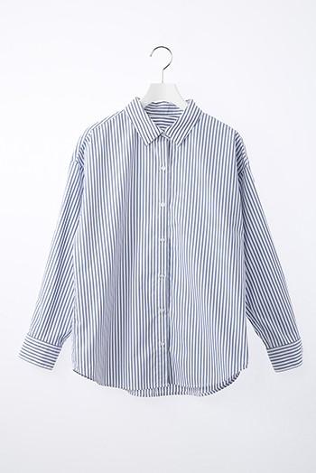 ブルーストライプシャツ