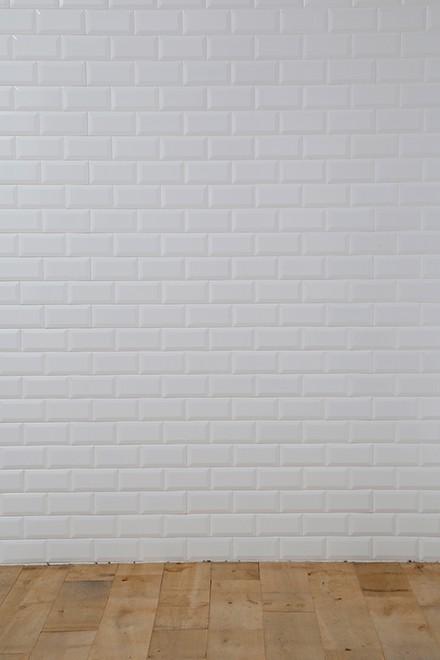 白タイル壁x床